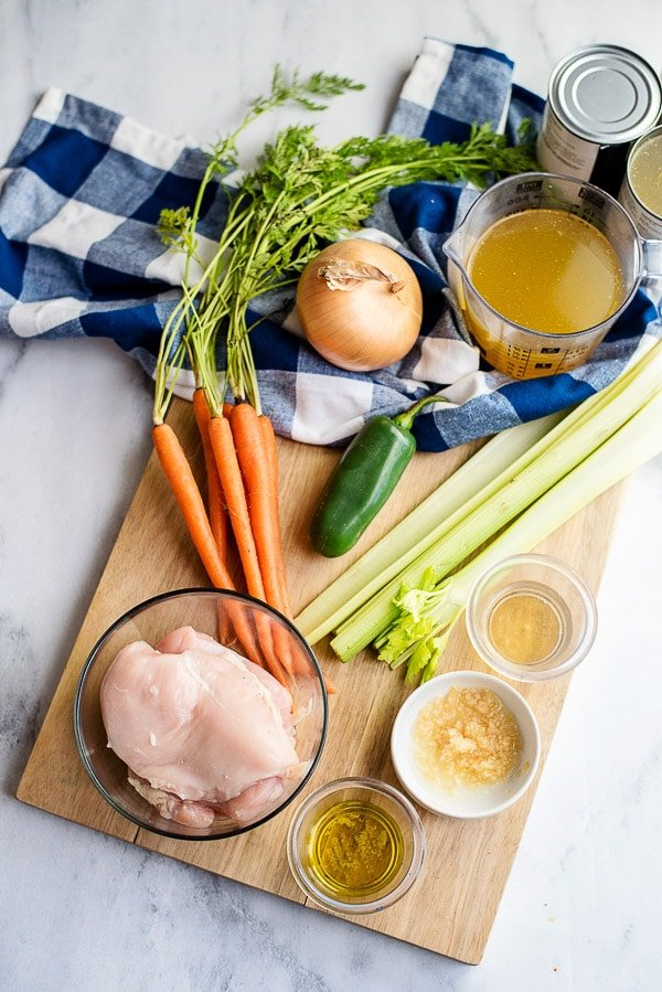 Homemade Chicken Soup ingredients