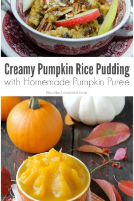 Creamy Pumpkin Rice Pudding