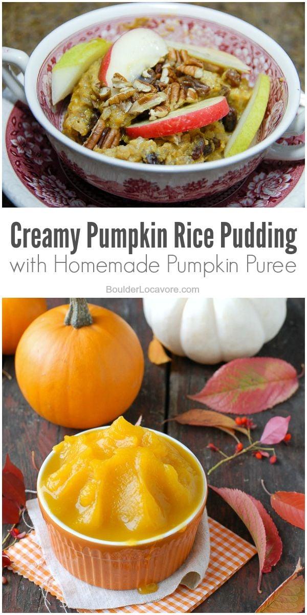 Creamy Pumpkin Rice Pudding BoulderLocavore.com