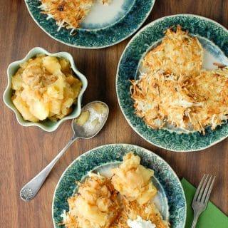Potato Latkes with Roasted Spiced Applesauce  Sour Cream
