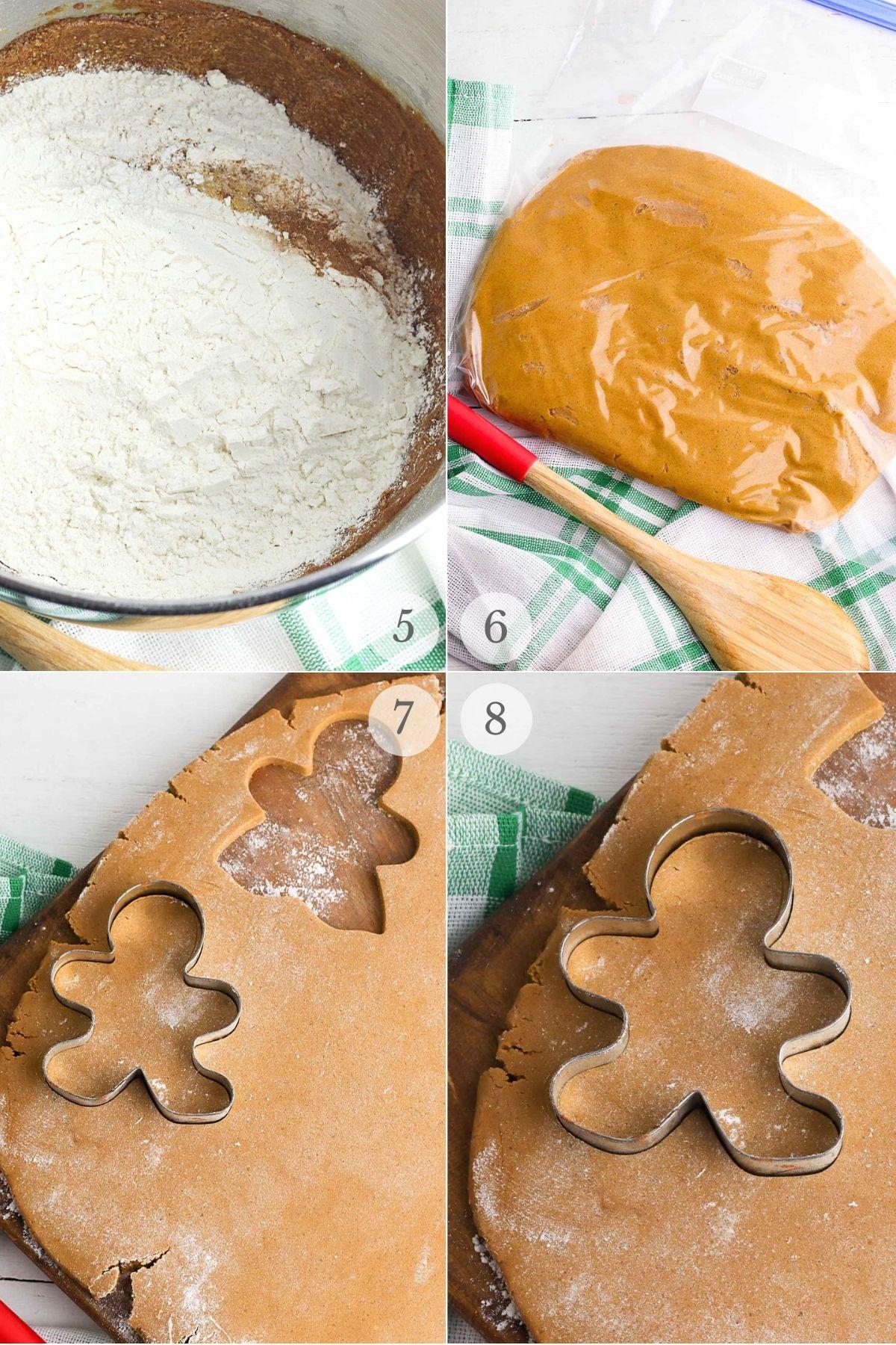 gingerbread cookies recipe steps 5-8