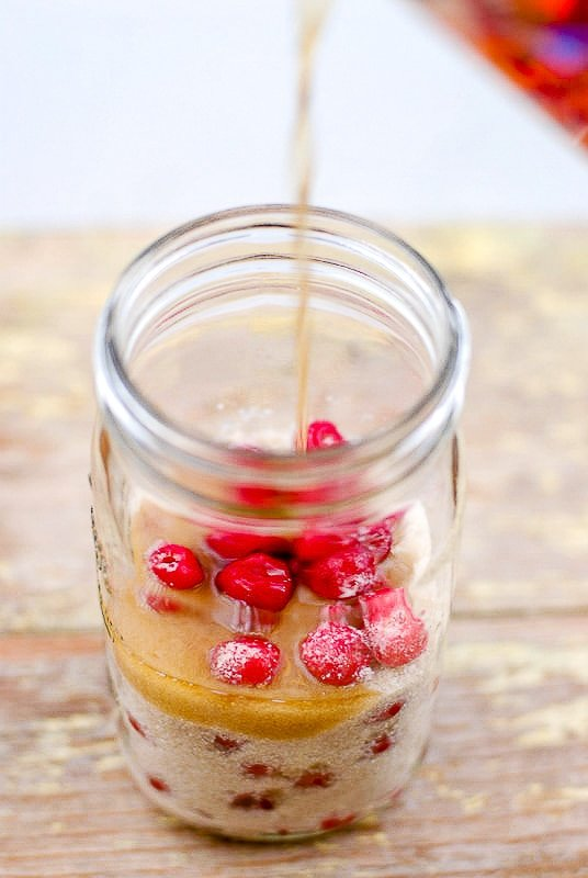 Cherry Bounce in a jar