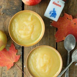 Homemade Applesauce naturally sweetened