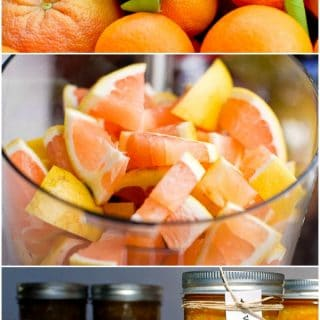 Vintage Three Citrus Marmalade recipe in food processor