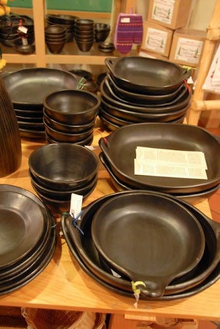 Santa Fe Cooking School black serving ware New Mexico