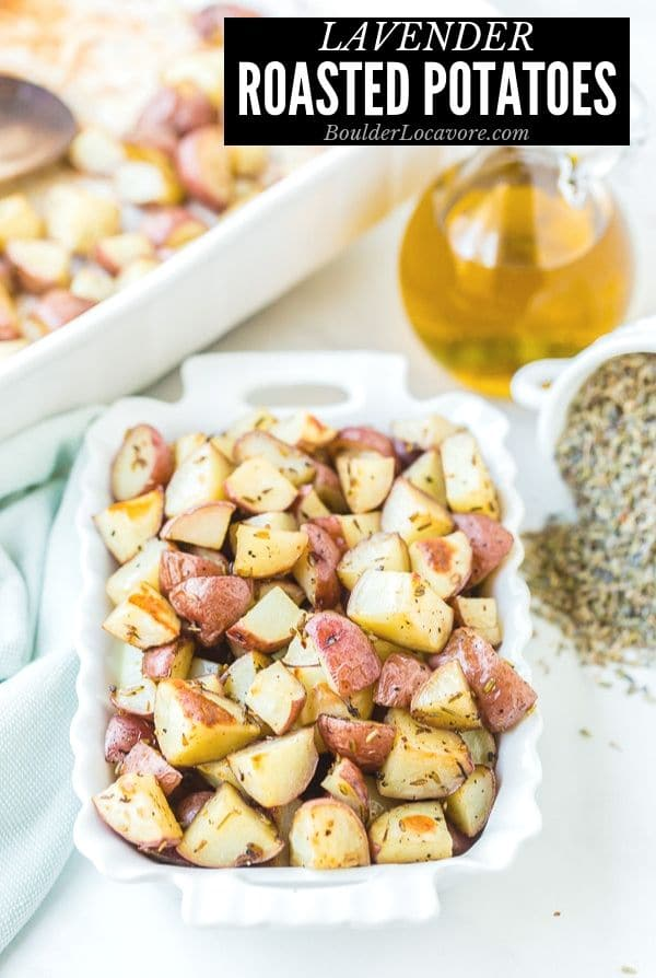 Lavender Roasted Potatoes title image