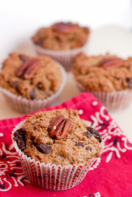 Bacon Mesquite Chilies-and-Cherries Chocolate Muffins. This cowboy muffin will remind you of the great outdoors with smoky, salty, sweet and spicy flavors. - BoulderLocavore.com