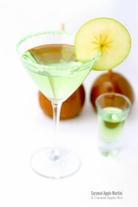 Caramel Apple Martini and Caramel Apple Shot
