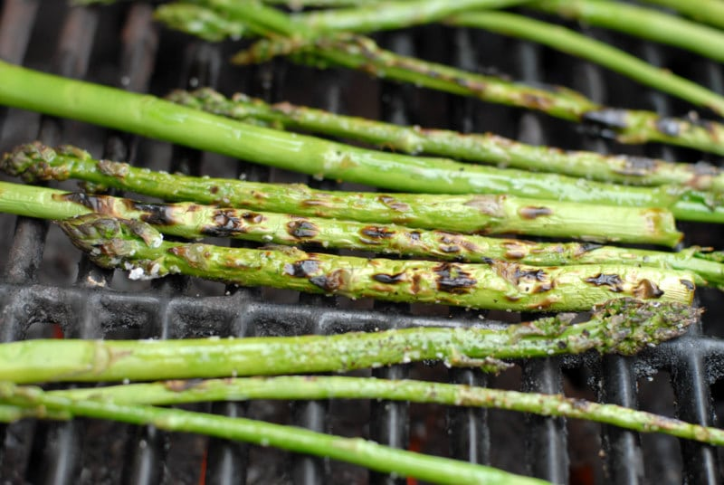 wild asparagus on the grill