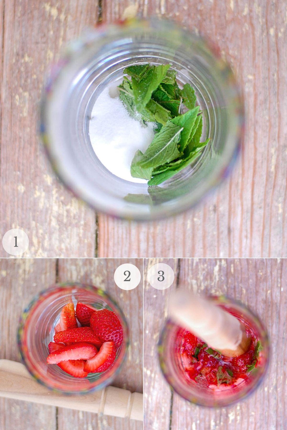 strawberry mojitos recipe steps 1-3