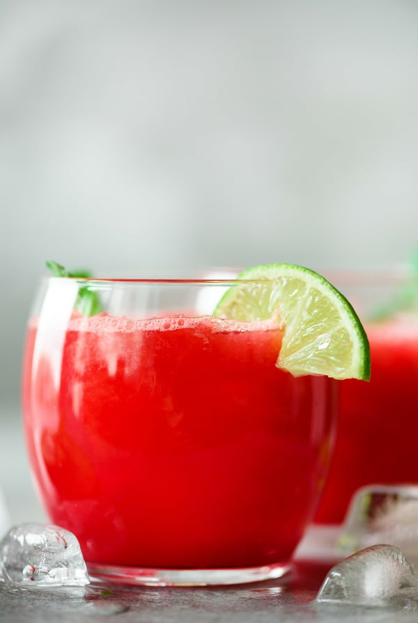 glasses of watermelon margaritas