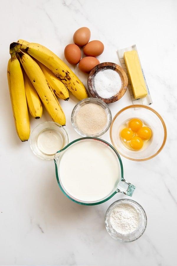 homemade banana pudding ingredients