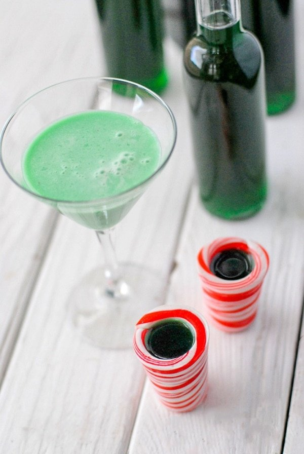 Creme de Menthe and Grasshopper Cocktail
