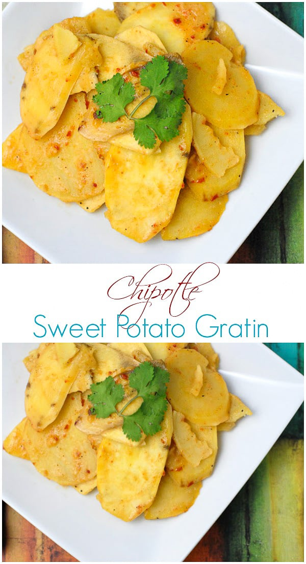 Chipotle Sweet Potato Gratin - BoulderLocavore.com
