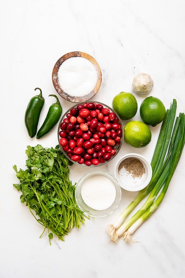 Cranberry Salsa ingredients