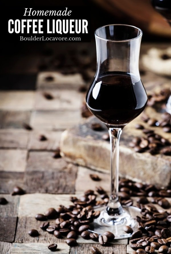 Homemade Coffee Liqueur title image