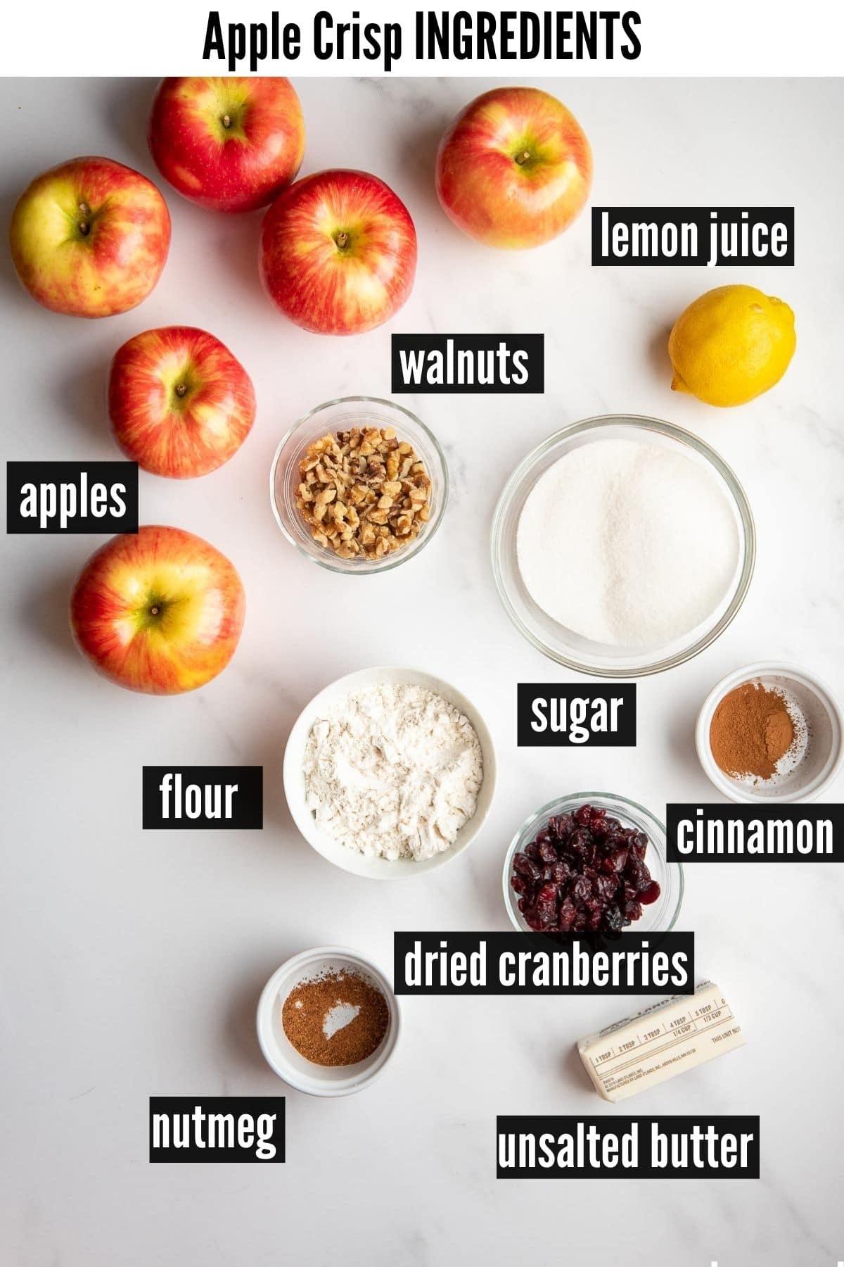 apple crisp ingredients labelled