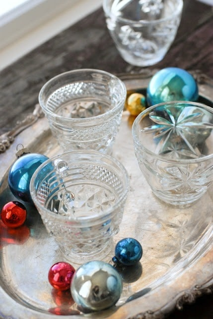 Vintage Egg Nog Cups and Christmas Tree Ornaments | BoulderLocavore.com