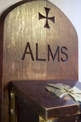Alms box in church - Boxing Day