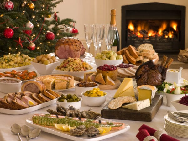 Boxing Day feast of cold cuts and ham