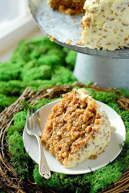 Best Hummingbird Cake single slice combines flavors of banana bread and carrot cake with pineapple too