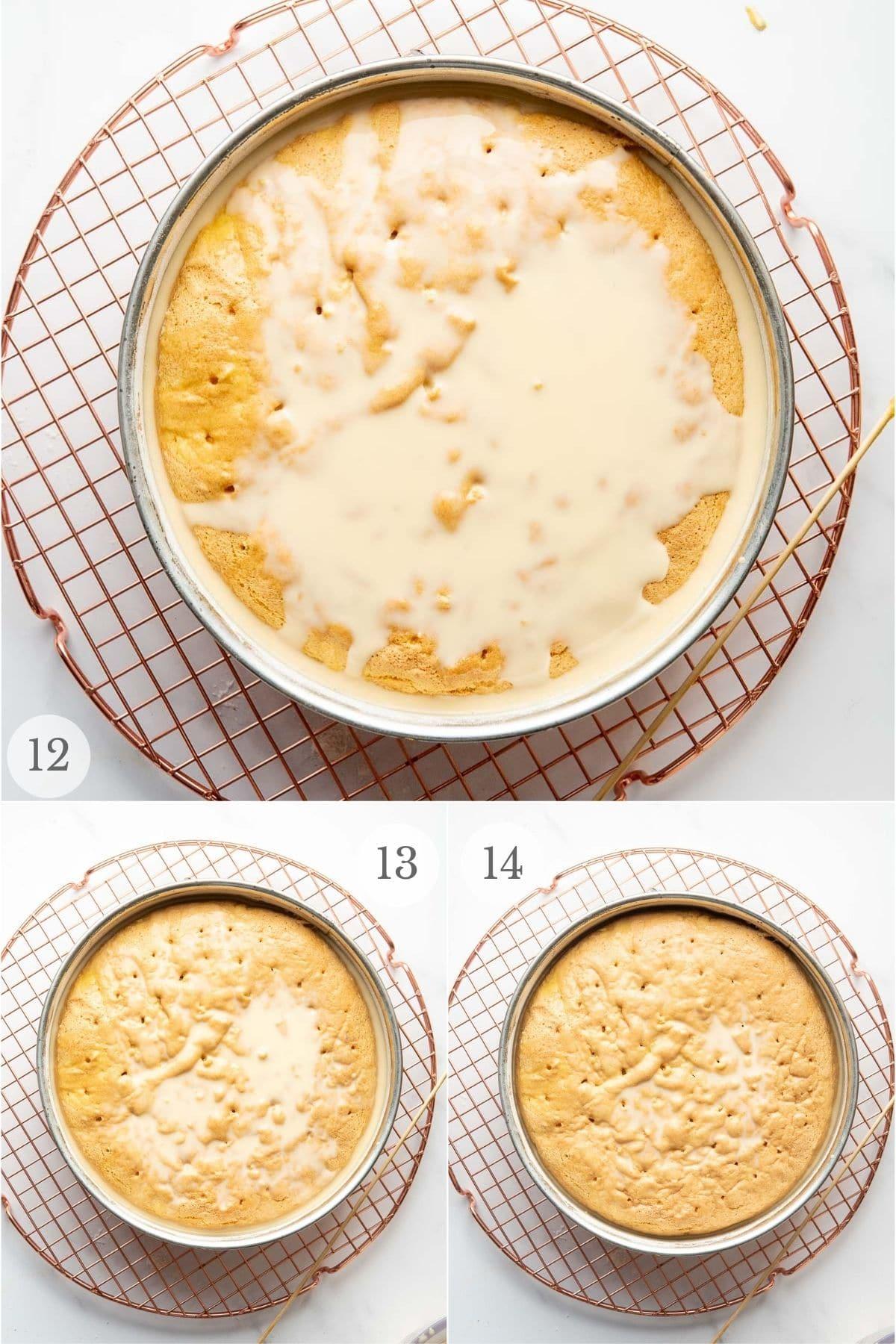 tres leches cake recipe steps 12-14