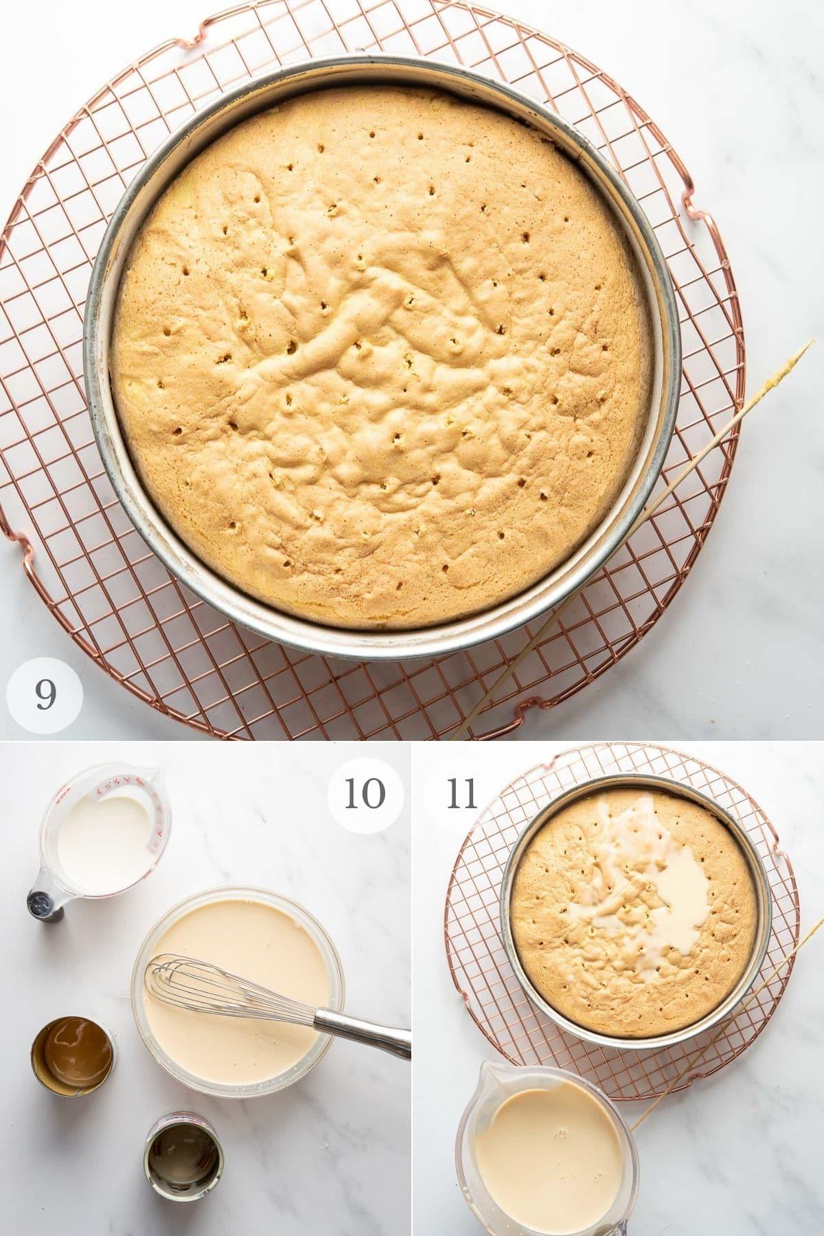 tres leches cake recipe steps 9-11