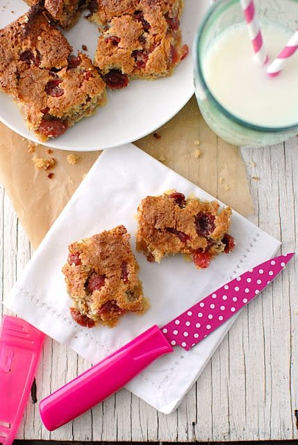 Cherry Bars recipe - BoulderLocavore.com
