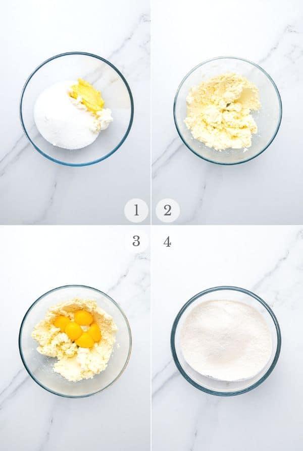 Italian Cream Cake recipe steps collage 1