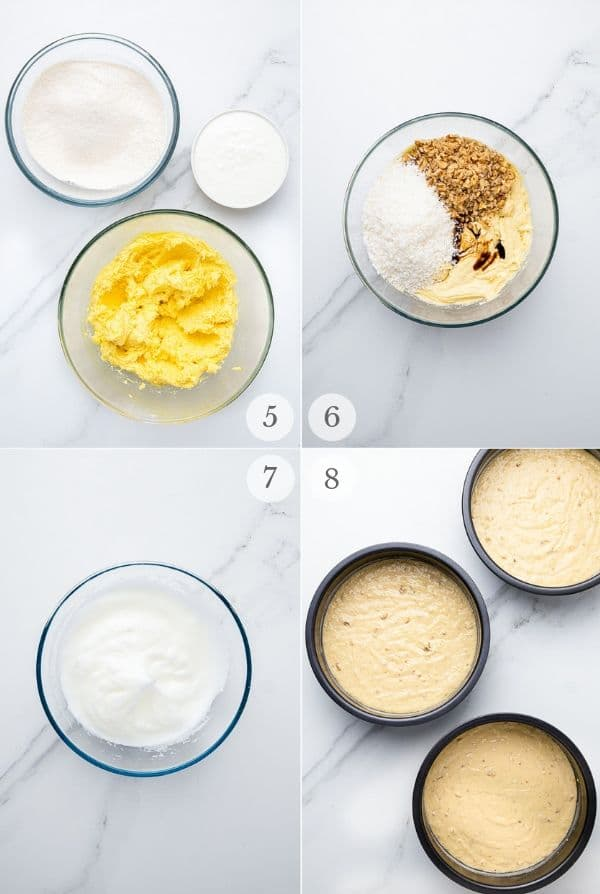 Italian Cream Cake recipe steps collage 2
