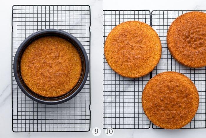 Italian Cream Cake recipe steps collage 3