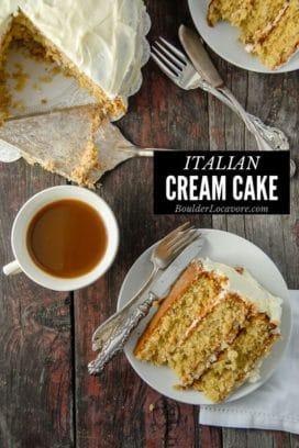 Italian Cream Cake with slice