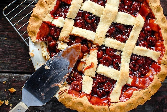 President's Birthday Cherry Pie. A delicious old-school cherry pie fit for a President's Birthday or your dinner table. Gluten-free or regular options. - BoulderLocavore.com