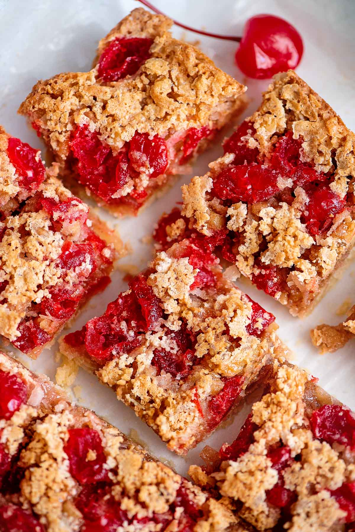 cherry bars close up