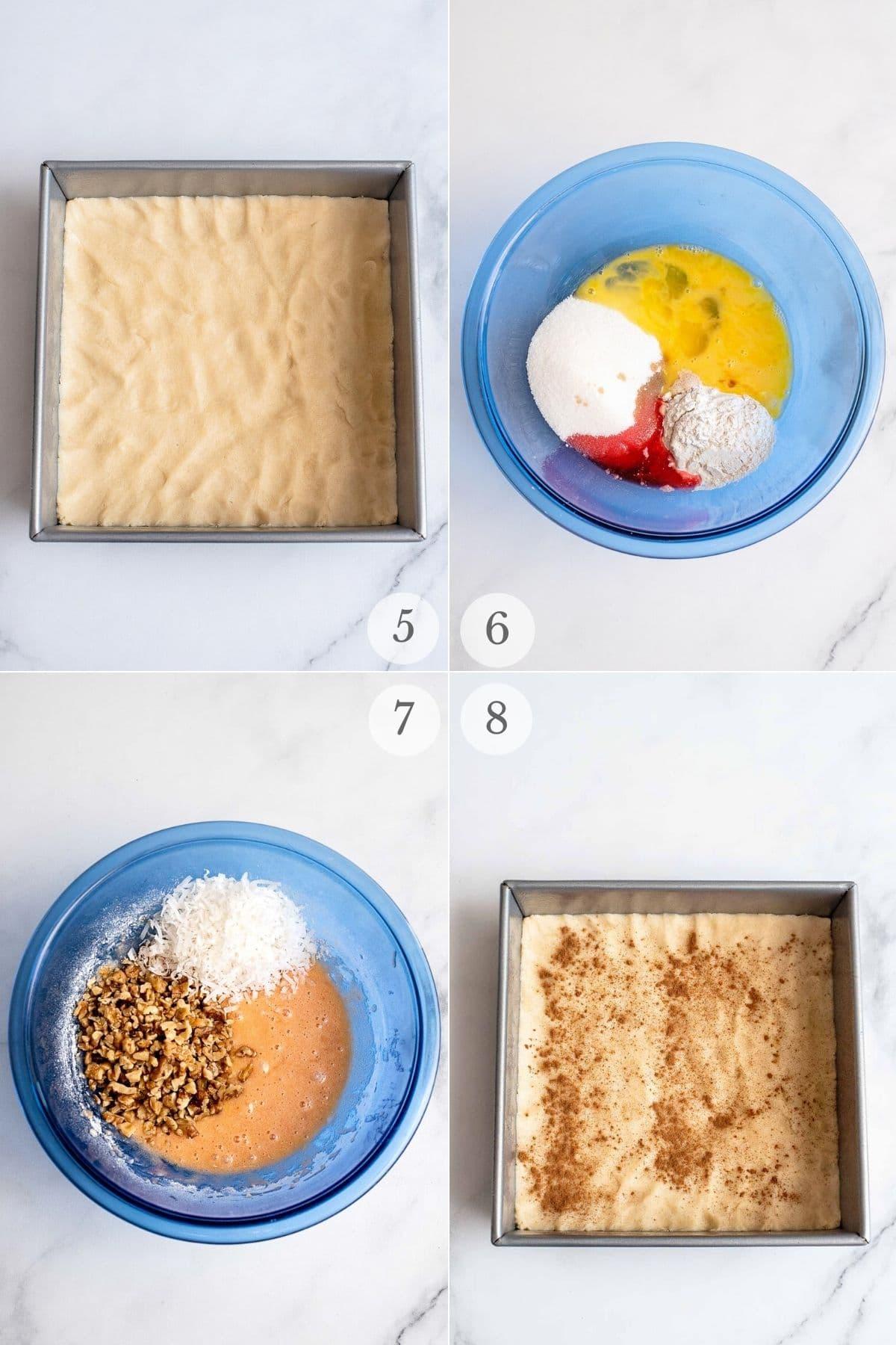 cherry bars recipe steps 5-8