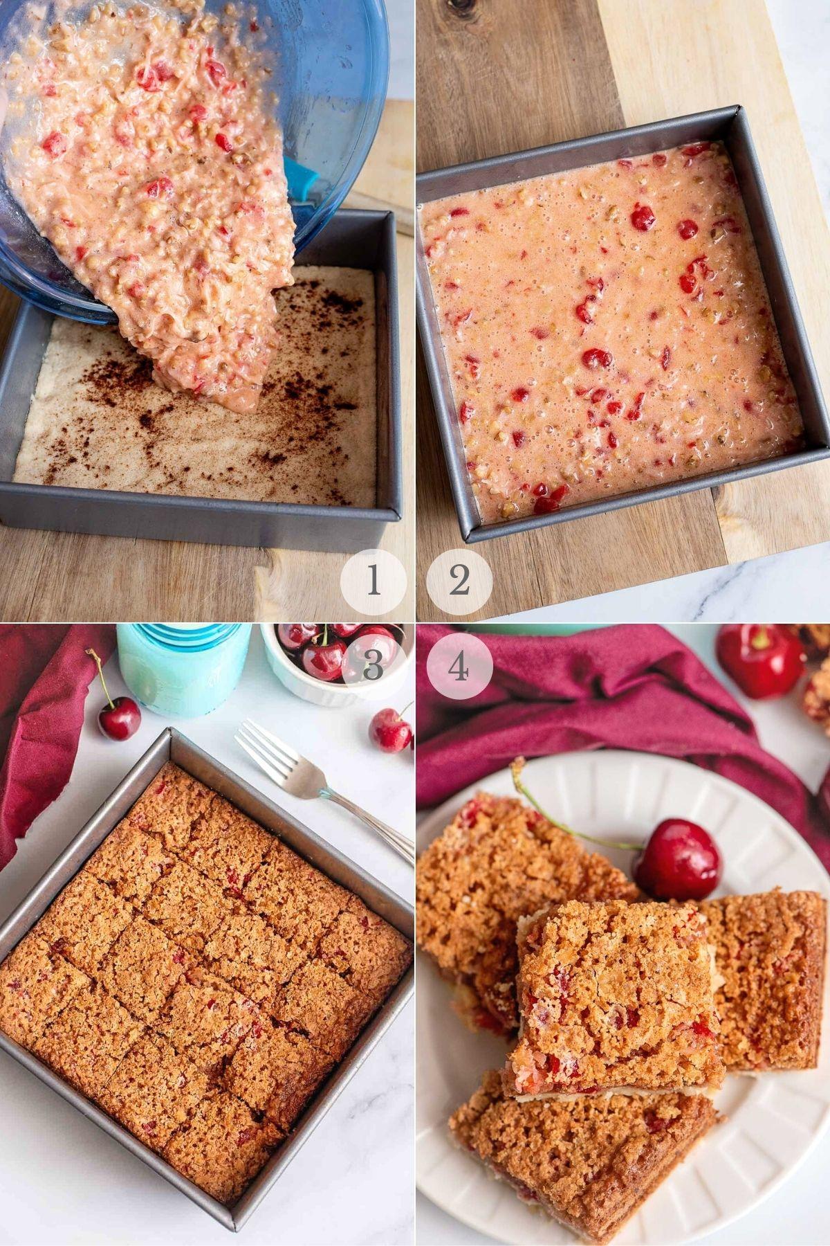 original cherry bars recipe steps variations