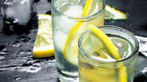 Homemade Lemon-Infused Vodka & Lemon Vodka Tonic