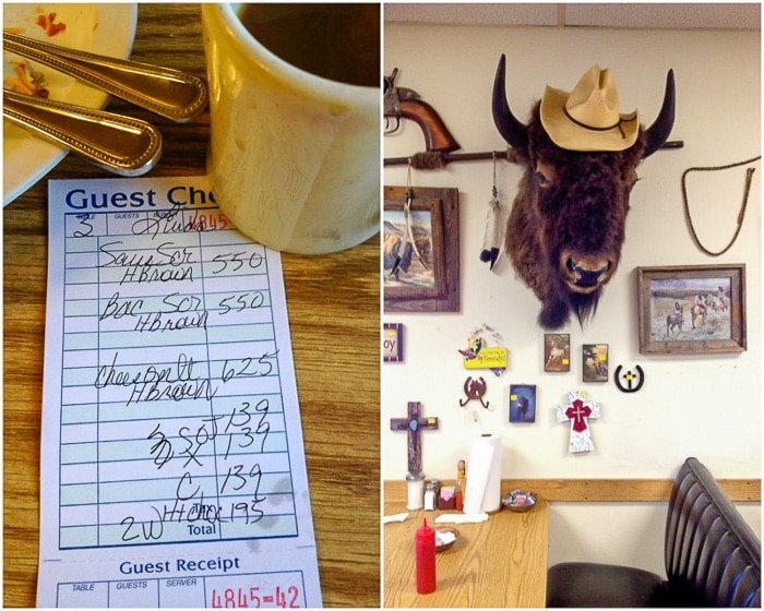 Stockyard Cafe Amarillo Texas (buffalo head on wall)