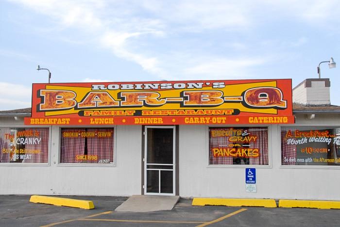 Robinson's BBQ Amarillo Texas exterior