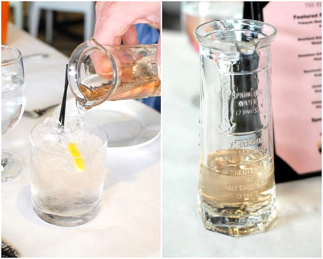 making a St. Germain Cocktail