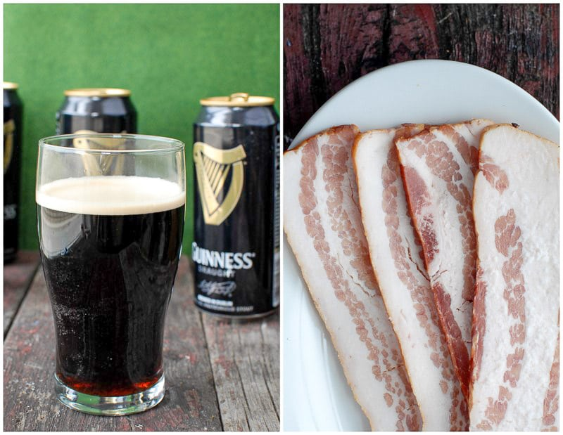 guinness beer and thick bacon