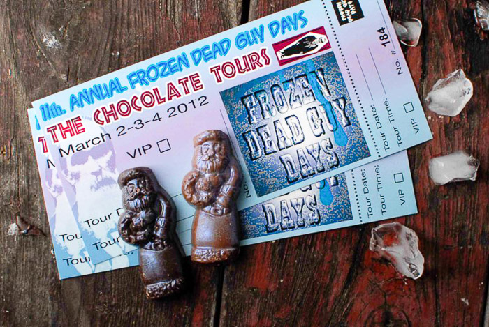 Frozen Dead Guy Days festival tickets and chocolate tour