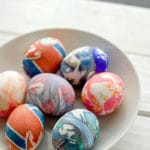 Silk Dyed Easter Eggs and Bunny Shaped Hard Boiled Eggs