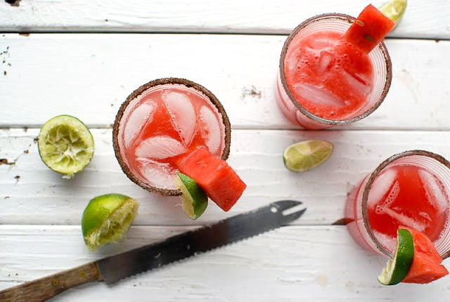 Smoky Watermelon-Jalapeno Margaritas  -  BoulderLocavore.com