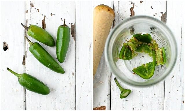 Smoky Watermelon-Jalapeno Margaritas - Muddling Jalapeno Peppers - BoulderLocavore.com