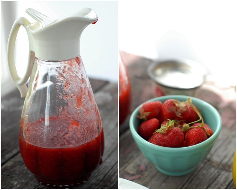 homemade fresh strawberry syrup