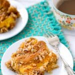 Fresh Peach Sour Cream Coffee Cake - BoulderLocavore.com