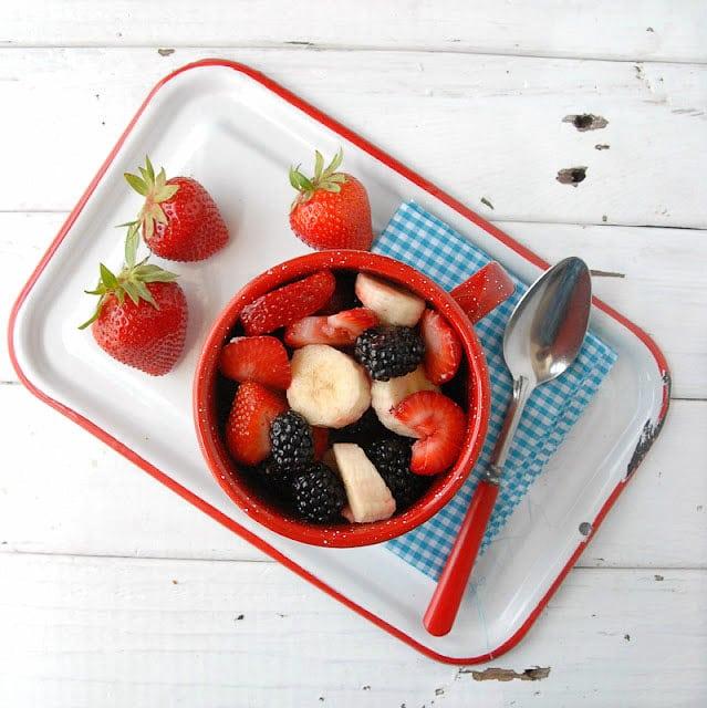 Patriotic Salads Strawberry, Blackberry, Banana - BoulderLocavore.com