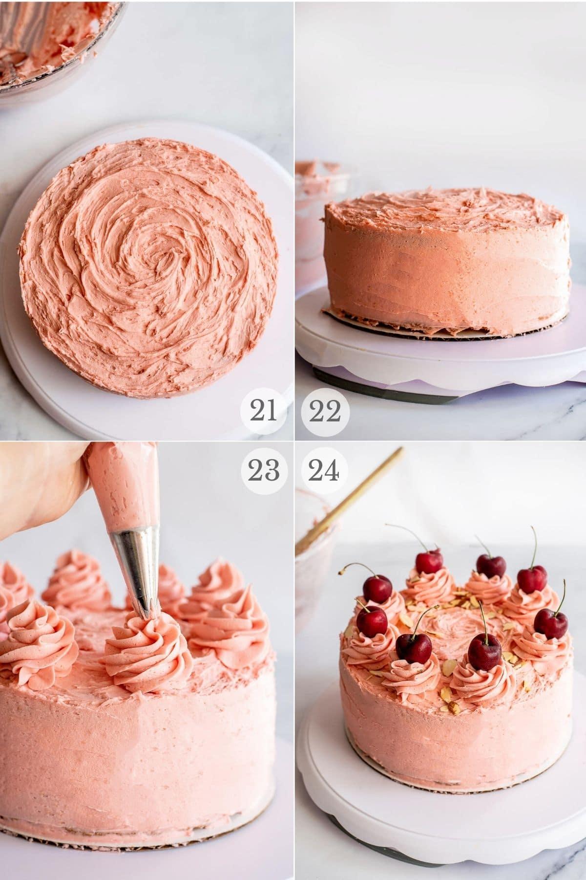 cherry sour cream cake recipe steps 21-24