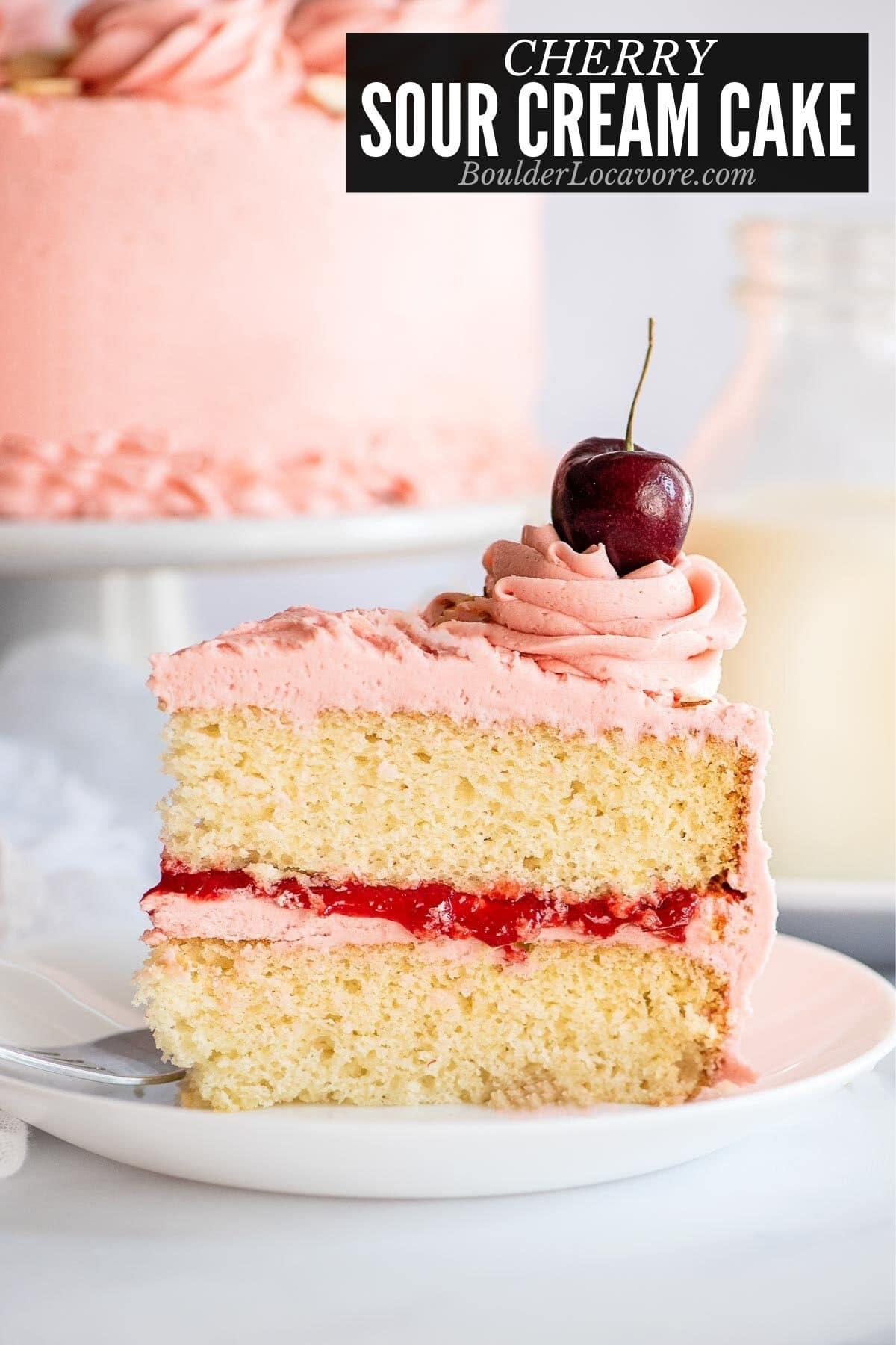 cherry sour cream cake title